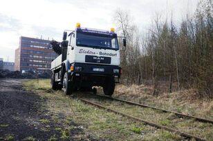 MAN 18.280 4x4 HIAB 166 Road RAIL Two way Schiene mobile crane