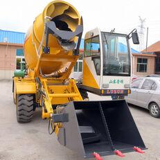 new LUZUN selfloading concrete mixer wheel excavator